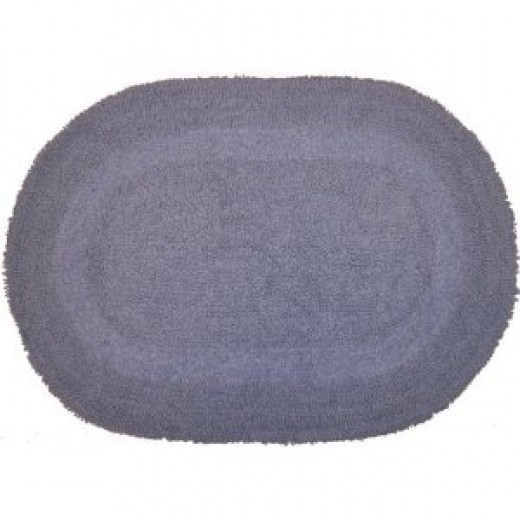 Revere Mills 4-Pack Cotton 17 by 24-Inch Oval Reversible Bath Rugs