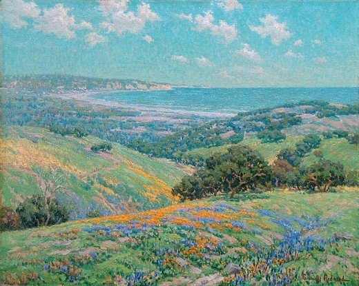 Granville Redmond: Malibu Coast, Spring c. 1929 Oil on canvas, 20 x 25 inches (Click to Enlarge)