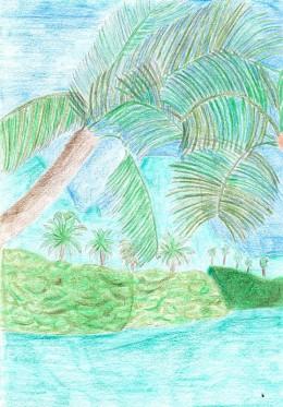 Palm trees in Tahiti. Credit: Sweetiepie on Hubpages.