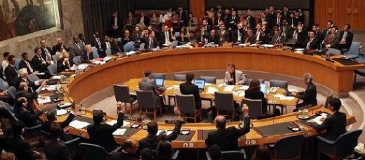 A UN security council meeting