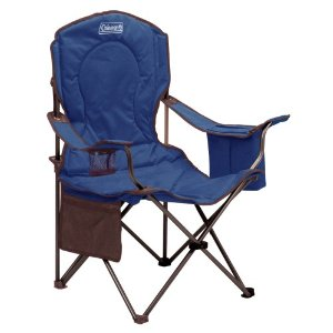 Coleman Oversized Quad Chair with Cooler, Blue