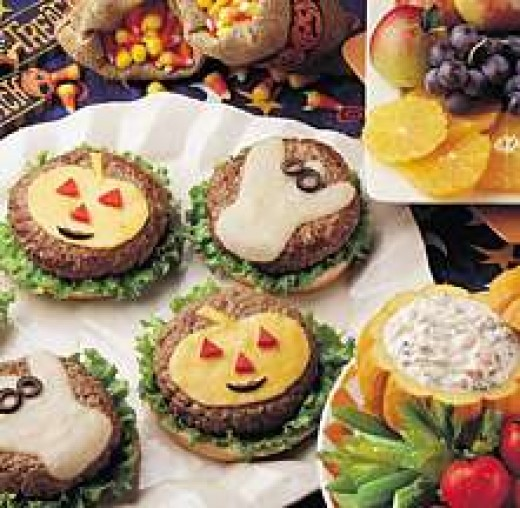 Halloween Food Ideas - Halloween Burgers