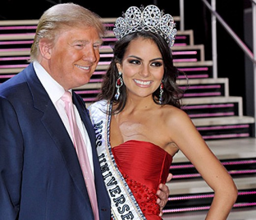 Mr. Donald Trump congratulating Miss Mexico - the winner for Miss Universe 2010 (Photo courtesy of http://www.hellomagazine.com/)