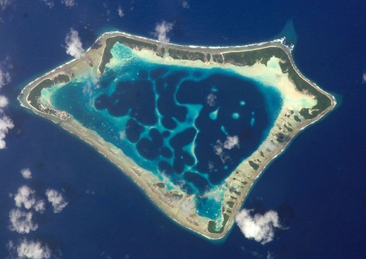 An Atoll in the Pacific Ocean.
