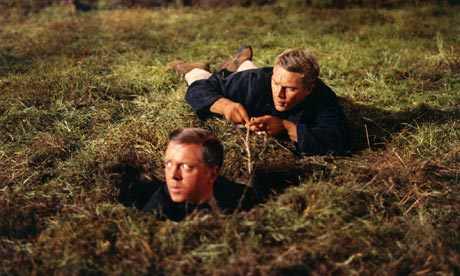 Sir Richard Attenborough and Steve McQueen in The Great Escape