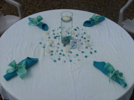 home made wedding centerpieces