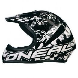 O Neal Azonic full face Black flip bicycle helmet.