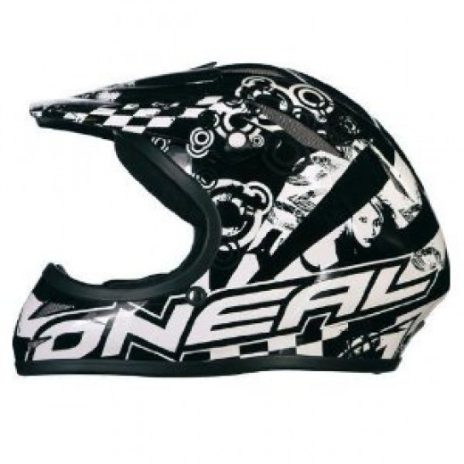 O Neal Azonic full face Black flip bicycle helmet.