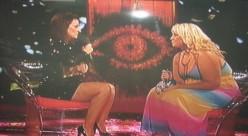 Josie being interviewed by Davina