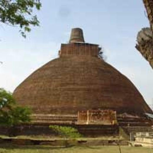 Abayagiry dagoba in Anuradhapura