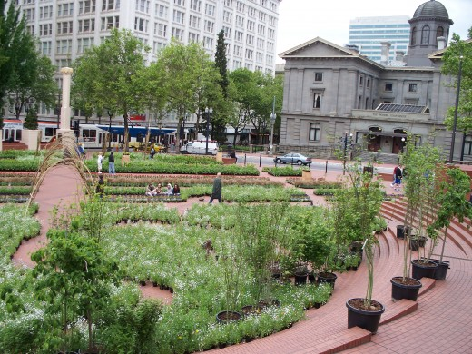 "Pioneer Square, the ""living room"" of Portland"