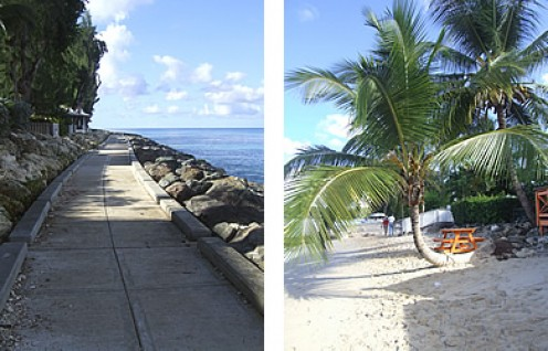 Barbados west coast boardwalk