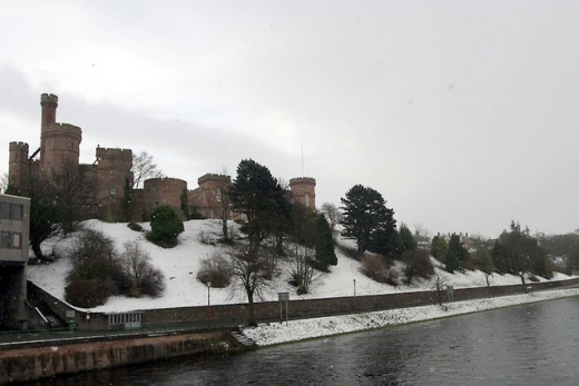 Scotland: Inverness Castle In Winter