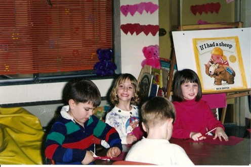 I was the blonde girl between the boy and dark-haired girl.