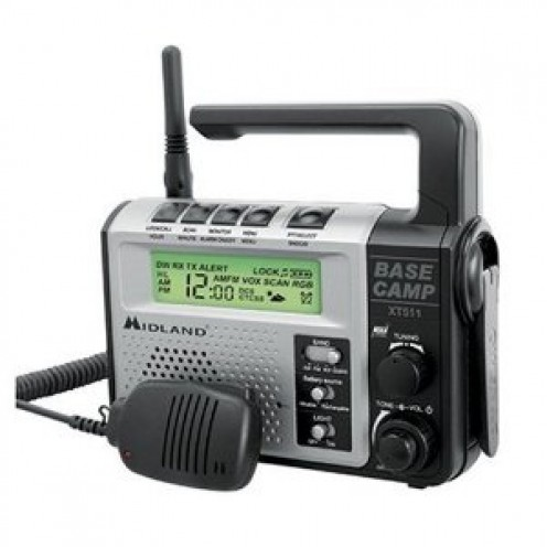 Midland XT511 22-Channel FRS/GMRS Two-Way Emergency Crank Radio