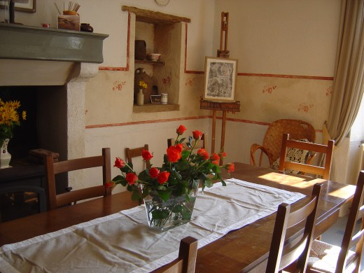 Bed and Breakfast dining room