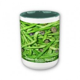 Green Bean Heads Coffee Mug Click on the link to the left side.