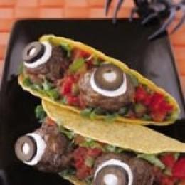 Halloween Food Ideas - Spooky Eyeball Tacos