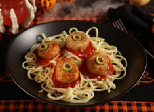 Halloween Food Ideas: Spaghetti and Eyeballs