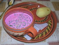 Recipe of Cold Beet Soup- Perfect Summer Refreshment Food.