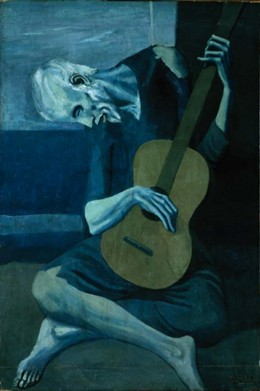 "'The Old Guitarist"" from Picasso's Blue Period"