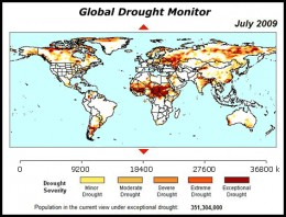 The drought we see for this year is actually years in the making. This is the 2009 map for drought affected regions. In 2010, Russia experienced a devastating drought and fire storms.