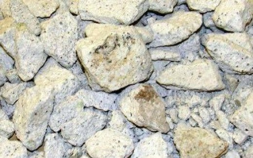 Ball Clays - Ball clays have a very high plasticity and shrink a lot when fired. They are usually light gray, brown or light blue but fire white. Image Credit: Mita mining company.