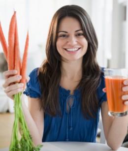 bienfaits de carottes sur la peau