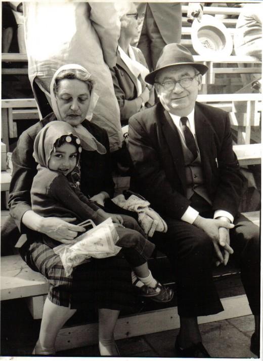 Grandmother Klara, myself, and Grandfather Tsi March 18, 1965