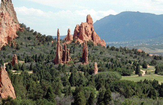 Panoramic view  of Garden of the Gods. http://en.wikipedia.org/wiki/File:Garden_of_the_Gods.JPG