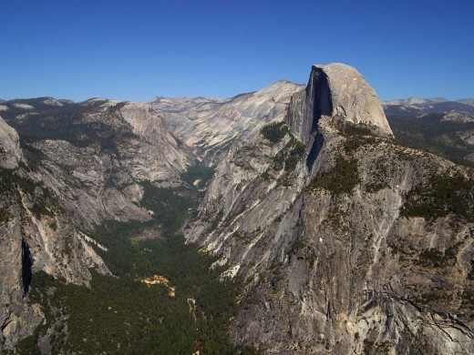 Yosemite valley and Half Dome. Courtesy http://pdphoto.org/PictureDetail.php?mat=&pg=8271