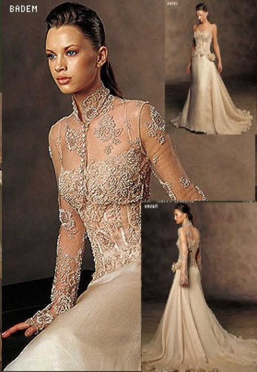 Made of tulle and bridal lace Dress D Beautifully detailed high neckline