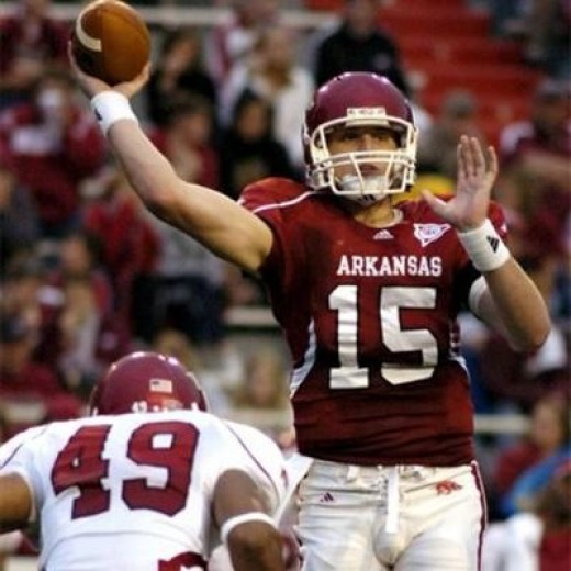 2010 Arkansas Razorbacks (vs Alabama, vs Texas A&M (Dallas), at Auburn, vs Ole Miss, at South Carolina, vs LSU)