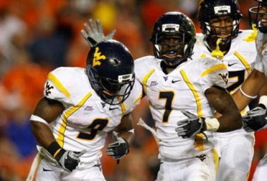 2010 West Virginia Mountaineers - (at LSU, vs South Florida, at Connecticut, vs Cincinnati, at Pittsburgh)