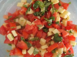 Mix all the chopped ingredients together.