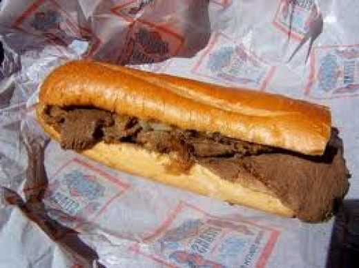 Cheeseteak from Geno's Steaks