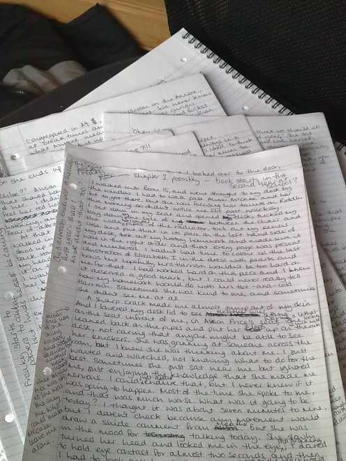This is what my writing looks like when it comes straight out of my head - same as many people's I suppose.