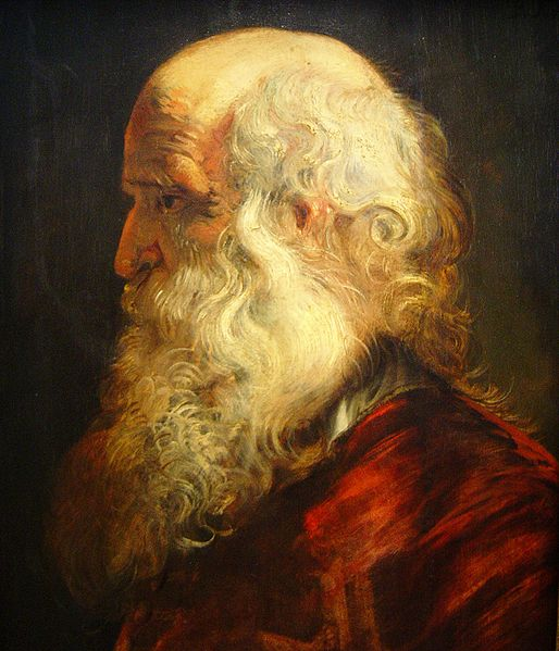 Study of the head of an old man by Peter Paul Rubens. Wikimedia Commons.