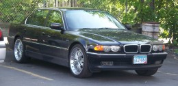 This is the later BMW 7 series body.