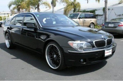 A late model 7 series BMW. The body has kept it's style and enhanced it's beauty. I find the new 7 series to be a beautiful looking car.