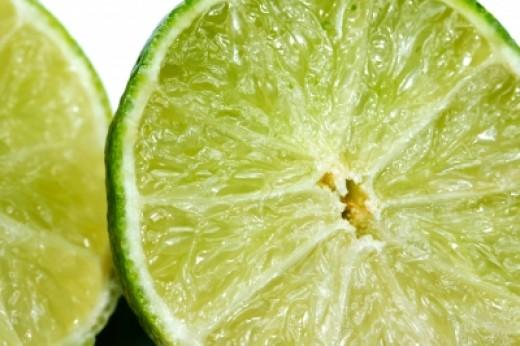 Sliced limes.