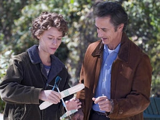 Claire Danes and David Strathairn in: Temple Grandin