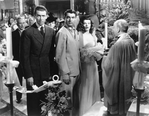 James Stewart, Cary Grant and Katharine Hepburn in The Philadelphia Story