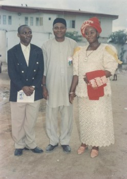 AN OPEN LETTER TO GEN.MUHAMMED BUHARI (RTD):Fr Ken with family friend and memders, Mary'sRose.