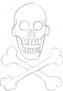 How Draw Skull Cartoons Final Step Fun Details Pictures