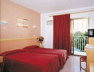 typical bedroom in Hotel Venus, Benidorm