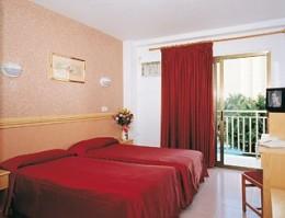typical bedroom in Hotel Venus, Benidorm