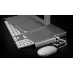 SlimKey V2 Steel Stand with 4 USB 2.0 Hub Space Saver