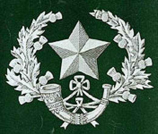 Regimental Crest of the Cameronians (Scottish Rifles)