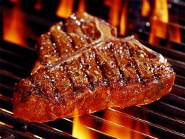 A juicy steak - a good source of iron and protein